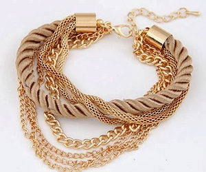 bracelet, gold, and woman image