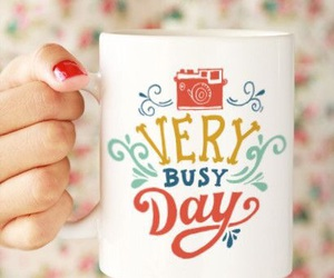 busy, coffee, and cup image