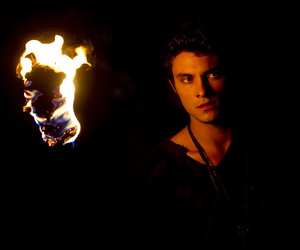 red riding hood, shiloh fernandez, and fire image