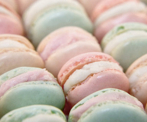 food, pastel, and macaroons image