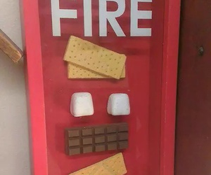fire, chocolate, and funny image