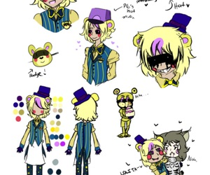 pole bear, fnaf, and toy golden freddy image