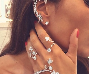 diamond, earrings, and nails image