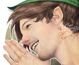 art, louistomlinson, and drawings image