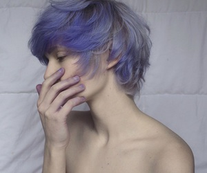 boy, hair, and pastel image