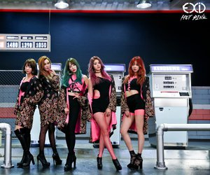 hot pink, kpop, and pink image