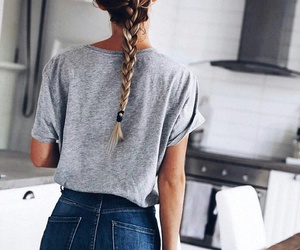 braid, hair, and jeans image