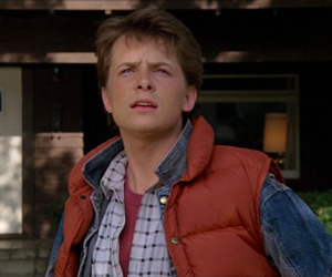 80s, Back to the Future, and michael fox image