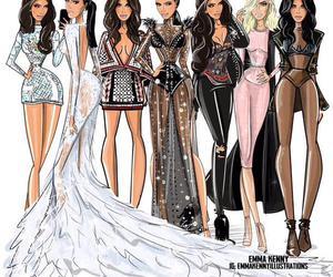 kim kardashian, style, and Balmain image