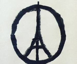 paris, prayforparis, and peace image