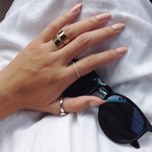 nails, style, and sunglasses image