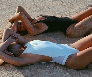 beach, healthy, and models image