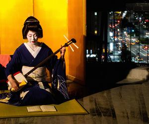 city, geisha, and maiko image