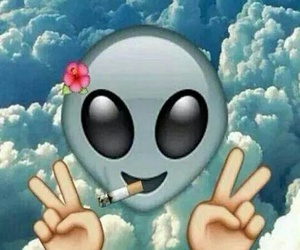 alien, emoji, and peace image