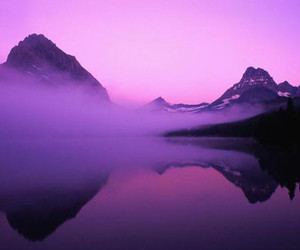 purple and mountains image