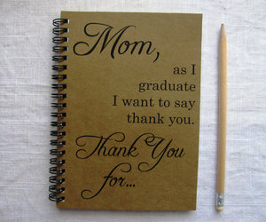 etsy, notebook, and thank you image