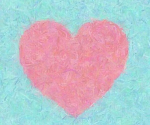 blue, pink, and heart image