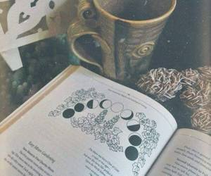 book, moon, and mystic image