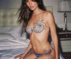 blue, Lily Aldridge, and runway image