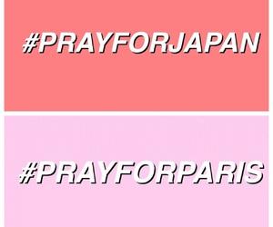 prayforparis, pray, and prayforjapan image