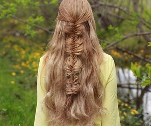 braid, girly, and curlyhair image
