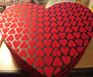 box, heart, and heart box image