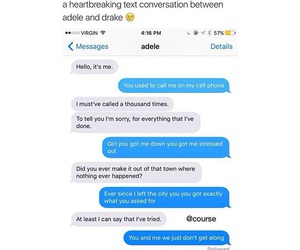 Adele, conversation, and hotline bling image