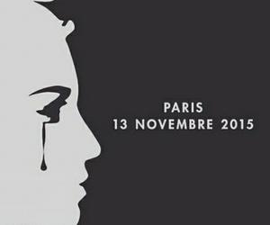 paris, prayforparis, and sad image