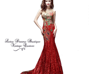 Christmas party, gowns, and vintage gown image