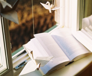 book, origami, and vintage image