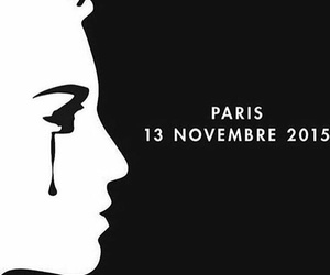 paris, prayforparis, and sad image