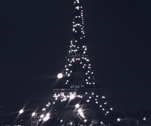 paris, night, and beauty image