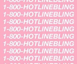 Drake, pastel pink, and hotline bling image