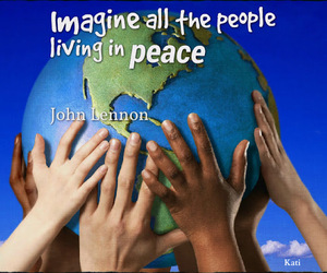 peace and quote image