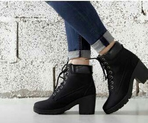 chaussures, grunge, and noire image