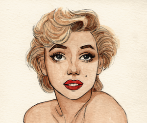 art, Marilyn Monroe, and drawing image