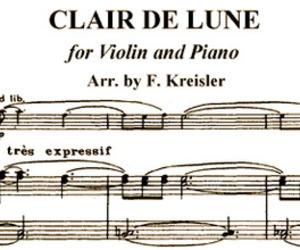 music, violin, and clair de lune image
