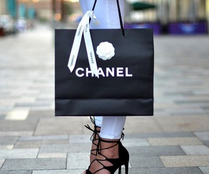 black, chanel, and classy image