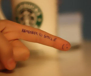 finger, hand, and smile image