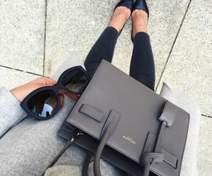 black, black jeans, and grey sweater image