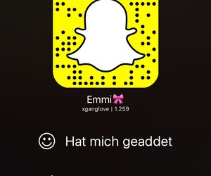 snap, love, and added me image