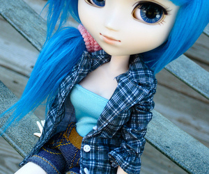 doll, blue, and blue hair image