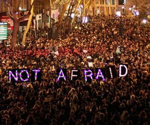 not afraid, paris, and peace image