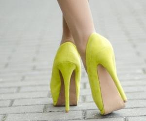 fashion, heels, and yellow image