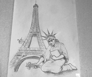 prayforparis, paris, and sad image