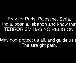 pray for the world, pray for paris, and pray for palestine image