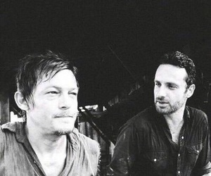 the walking dead, norman reedus, and andrew lincoln image