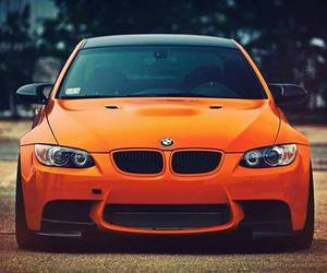 car, bmw, and orange image