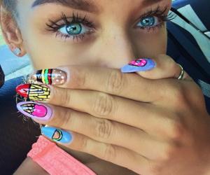 nails, summer, and eyes image