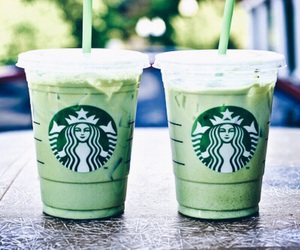 starbucks, drink, and green image